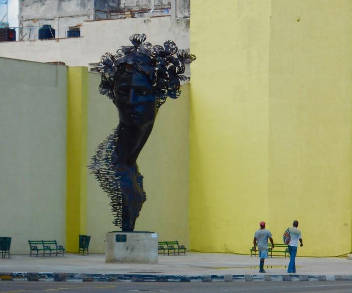 Medusa sculpture Cuba